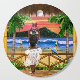 Hawaiian Sunset Hula Dancer Cutting Board