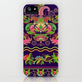 Floral Decoration Print iPhone Case