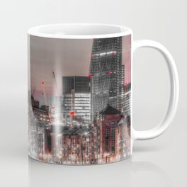 London in Monochrome and Red Coffee Mug