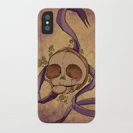 Skull and ribbon  iPhone Case