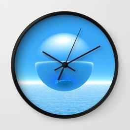 Floating Orb Wall Clock