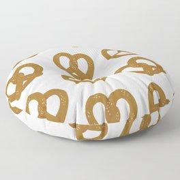 Pretzel Pattern – White Floor Pillow