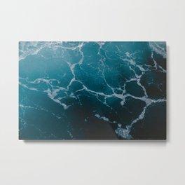 Marble ocean Metal Print