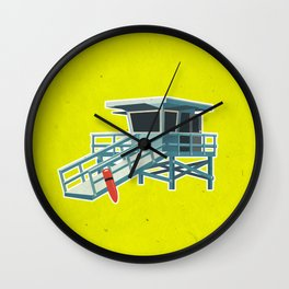 California Lifeguard Tower Wall Clock