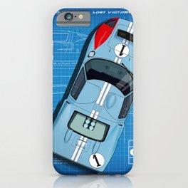 GT40 Le Mans 1966 Miles Blueprint iPhone Case