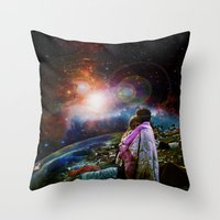 woodstock Throw Pillows featuring Woodstock Love Vibrant by ZiggyChristenson