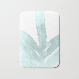 Ice Blue Fern in Summer White Bath Mat