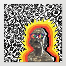 Sculture Wearing Wacky Marble Glasses Canvas Print