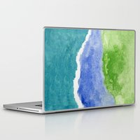 salt water Laptop & iPad Skins featuring Salt Water by Beth Thompson