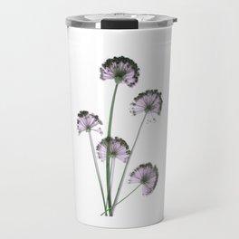 Pink flowers . wallpaper , flower decor, printable art Travel Mug