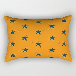 Lazy Stars (Tangerine/Blueberry) Rectangular Pillow