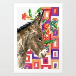Little Burro Dreams Art Print