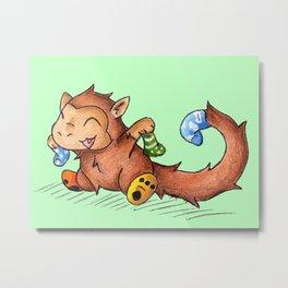 Sock Monkey Metal Print