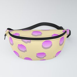 Pink Dots On Yellow Background Fanny Pack