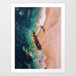 Miramar Beach Art Print