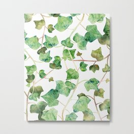 English Ivy Pattern Metal Print