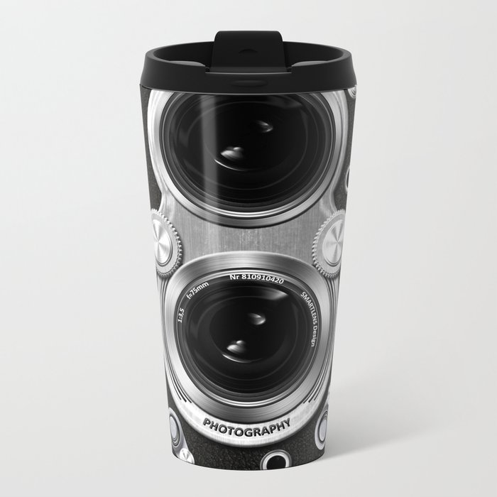 Vintage Camera Metal Travel Mug