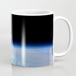 Synthwave Space #22: Moon, Earth, horizon, orbit Coffee Mug