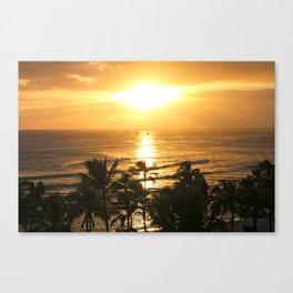 Golden Sunsets Canvas Print