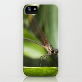 Baby Dragonfly - Insects Photography iPhone Case