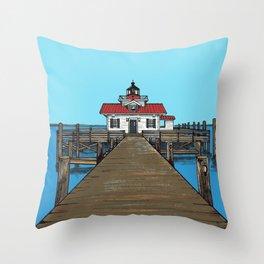 Roanoke Island Lighthouse Throw Pillow