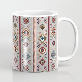 Caucasian Rugs(Stripe) - White Coffee Mug