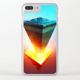 Earth core structure cross-section Clear iPhone Case
