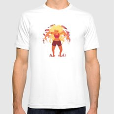 Red Giant White MEDIUM Mens Fitted Tee