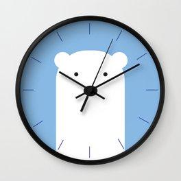 kiddies polar bear clock Wall Clock