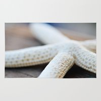 starfish Area & Throw Rugs featuring Starfish by Amelia Kay Photography