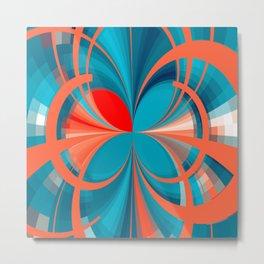Blown Absract Pattern Metal Print
