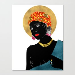 Mary in White Canvas Print