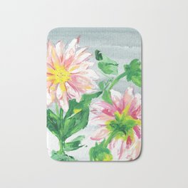 Dahlias for a cloudy day i Bath Mat