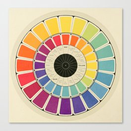 Color Wheel Spinner Canvas Print