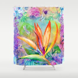 Bird of paradise i Shower Curtain