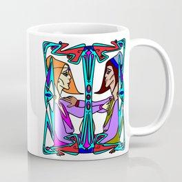 Art Deco Style Lovers from Medieval Era Coffee Mug