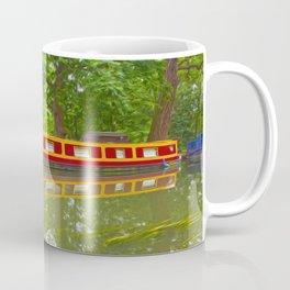 Canal Boat Painted Coffee Mug