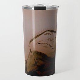 Jack Nicholson Graphite Original Portrait Travel Mug