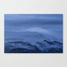 Winter magic blue mountain Canvas Print