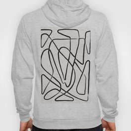Line Drawing Print, Continuous Wall Art, Couples Gifts, Line Wall Art, Modern Art, Abstract Line Art Hoody