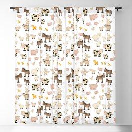 Farm Animals Blackout Curtain