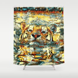 AnimalArt_Tiger_20170601_by_JAMColorsSpecial Shower Curtain