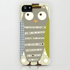 Grey Whimsy Owl iPhone (5, 5s) Slim Case