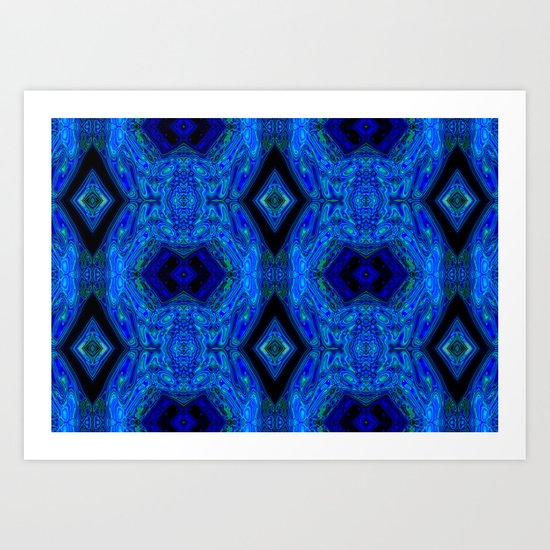 Blue Interface Art Print