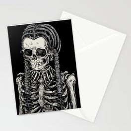 Wednesday Skeleton Stationery Cards