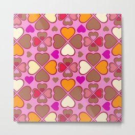 Hearts Flower Creation 2 Metal Print