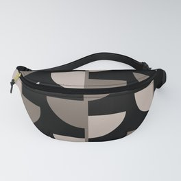 Slices Coffee and Cream on Black Fanny Pack