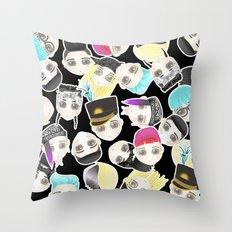 BIGBANG Collage (Black) Throw Pillow