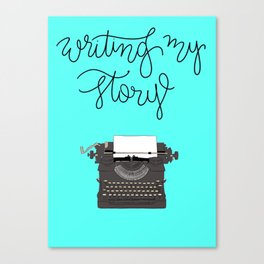 Writing My Story Print Canvas Print