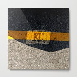 Rock Chalk Sidewalk Metal Print